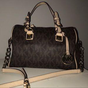 Michael Kors logo satchel/crossbody purse